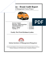Tata Nano Brand Audit - Final Project Report