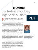Pedro de Osma, Javier Chimondeguy