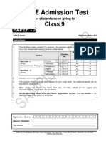 X03-Admission Test - Class 9 - P2