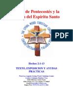 25 El Día de Pentecostés y La Venida Del Espíritu Santo HECHOS 2-1-13