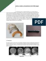 los aspectos, modos y mecanismos de la falla según la teoría mecánica.
