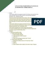 laporan pendahuluan  Pada Pasien Dengan Gangguan Sistem Neurologi