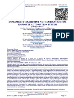 IMPLEMENT FINGERPRINT AUTHENTICATION FOR EMPLOYEE AUTOMATION SYSTEM