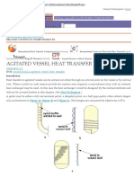 Agitated Vessel Heat Transfer