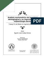 Analisis Morfometrico de La Unidad Dentogingival