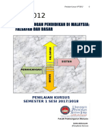 Penilaian Kursus KPF3012 SEM 1 2017-18