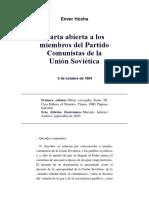 Carta Abierta a Los Miembros Del PCUS