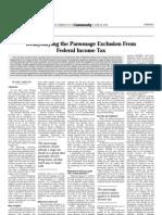 Hamodia Parsonage Article