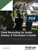 Field Recording for Audiodrama