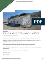 Sobre La Arquitectura Bioclimática - ARQUITECTURA de CASAS