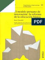 1980 El Modelo Peruano de Innovación La Reforma de La Educación Básica