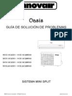 Innovair Oasis Mini Split 2nd Gen 9K 24K Troubleshooting Guide Spanish