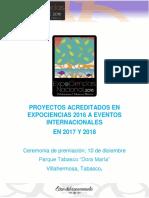 Resultados Expociencias Nacional 2016
