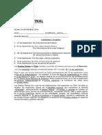 Indicaciones Actos 13 de Sep, 2016