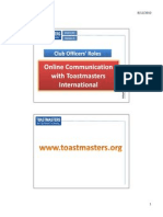 Online Communication With Toastmasters International