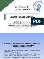 Pesquisa Neonatal - Congreso de Pediatria 2015