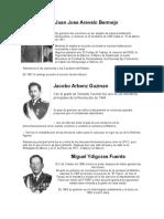 5 Presidentes de Guatemala