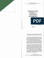 FONSECA, Ricardo Marcelo. Introdução Teórica à História Do Direito
