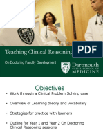Clinical Reasoning on Doc Faculty Dev Tuesday Version