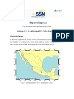 Reporte Sismo México