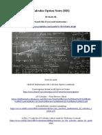 Calculus Option Notes