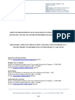 Ergonomic Aspects in the Planning and Execution of Projects a Textile Products Distribution Center Project Case Study