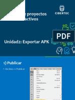 Como exportar un apk