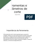 Ferramentas e Parâmetros de Corte Para Impressão