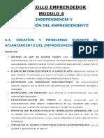 Desarrollo Emprendedor - Resumen Modulo 4