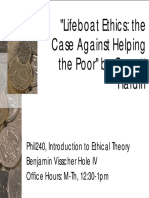 The Case Against Helping the Poor