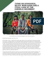 REFLECTIONS ON AYAHUASCA, PSYCHEDELICS, MARIJUANA.doc
