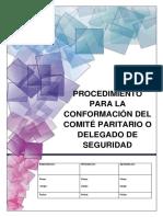 Procedimiento Para La Conformación Del Comité Paritario o Delegado de Seguridad (1)