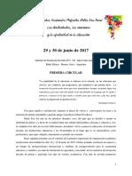 Primera Circular - II Jornadas Nacionales Profesora María Eva Rossi
