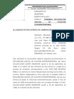 DEMANDA DE FILIACION EXTRAMATRIMONIAL HIJA DE TIA KAREN.doc