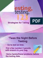 Strategies in taking the NLE