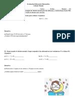 Evaluación Educación Matemática Calculo Mental Adecuacion