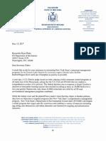 Sen. Ritchie letter to Interior Secretary Zinke on cormorant management