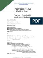 Programa para o 4º Estágio do NAFLS - Fut 11 e Futsal