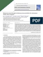 Behavioral control through evolutionary neurocontrollers for autonomous mobile robot navigation.pdf