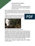 4 Áreas Protegidas en Guatemala