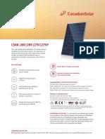Canadian Solar Datasheet CS6K P v5.4C2en