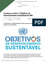 17 Objetivos de Desenvolvimento Sustentável Da ONU _ ONU Brasil