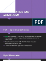 LIPID DIGESTION AND METABOLISM
