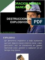 Destruccion de Explosivos