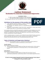 WFSF Position Statement 16 August 10