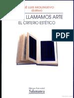 8.MOLINUEVO, J., ¿A qué llamamos arte El criterio estético, España Universidad de Salamanca.pdf