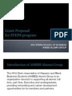 AHBBS STEPS Program
