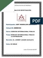 Derecho Internacional Público La Extradicion