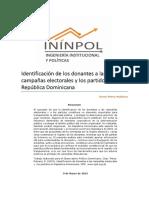 Identificación de Los Donantes a Las Campañas Electorales y Los Partidos en República Dominicana ININPOL