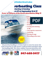 Powerboating Class